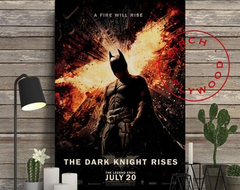 BATMAN: The Dark Knight Rises - Poster on Wood, Christian Bale, Tom Hardy, Anne Hathaway, Gary Oldman, Unique Gift, Birthday Gift, Wood Gift