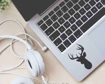 Deer Silhouette Decal, Vinyl Decal, Laptop Decal, Macbook Decal, Car Decal, iPad Decal