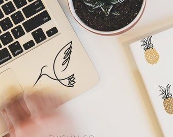 Hummingbird Decal, Vinyl Decal, Laptop Decal, Macbook Decal, Car Decal, iPad Decal