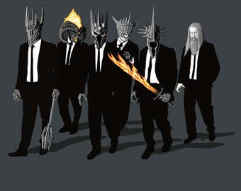 Reservoir Lords Tee  / Lord of the Rings T-shirt  / Reservoir Dogs / Tarantino / Morgoth, Sauron, Witch-King/   Free Shipping worldwide
