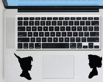 Peter Pan Decal Tinkerbell Wendy Decal Vinyl Sticker Macbook Decal Macbook Sticker