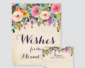 Printable Wedding Wishes Cards