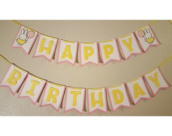 Miffy Birthday Party Banner
