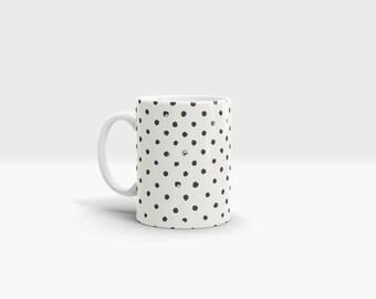 Paint Dots Mug. 11oz Ceramic Mug.