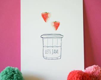 Let's Jam A4 print