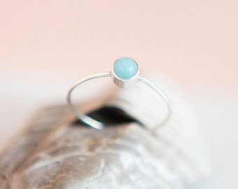 Amazonite Ring | Sterling Silver | Stacking Ring | Dainty Ring | Minimalist Jewelry | Thin Ring | Boho | Gift For Her