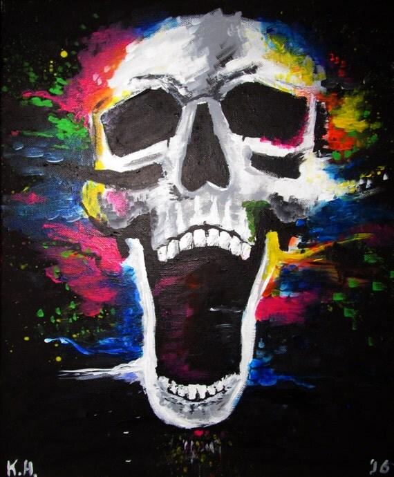 Skull Colour Explosion