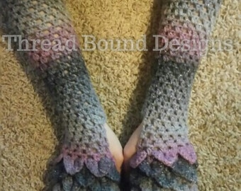 Long Dragon Scale Arm Warmers