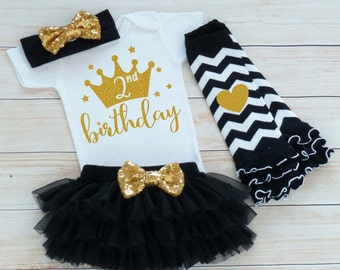 2nd Birthday Outfit Girl, Second Birthday Outfit, 2nd Birthday Girl Shirt, Birthday Gift, Second Birthday Girl Bodysuit, 2nd Birthday Girl
