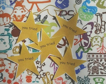 Gold Star Stickers: Pack of Five