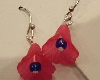 Pink Lily Earrings