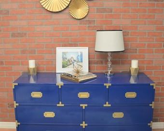 SOLD! Vintage Furniture -Bernhardt Mid Century Campaign Dresser *SOLD*