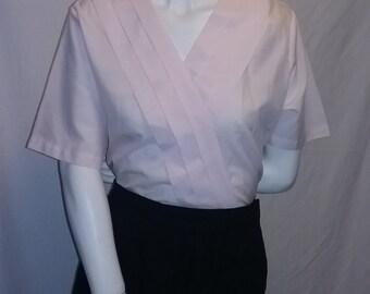 Vintage pale pink Laura mae blouse top