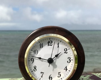 Hawaiian Koa wood desk clock
