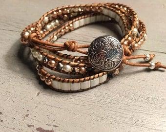 Rose Gold Quad Wrap Bracelet