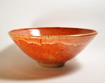 Fruit Bowl, Salad Bowl, Large Bowl, Reduction Fired Stoneware, Shino glaze