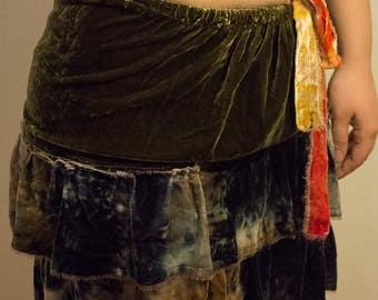Velvet Skipping Skirt/Tube Top