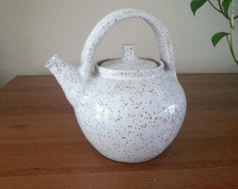 Handmade Pottery Teapot, Ceramic Teapot, Teapot, White Teapot, Handthrown Stoneware Teapot