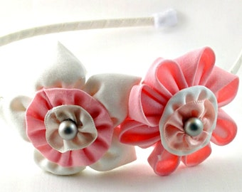 Handmade Fabric Flower Headband