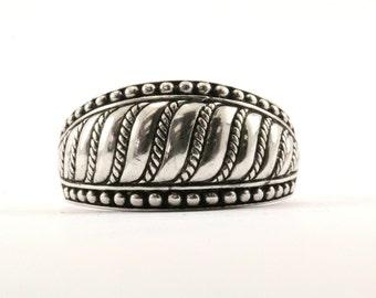 Vintage Judith Ripka Wave Design Ring 925 Sterling Silver RG Iv
