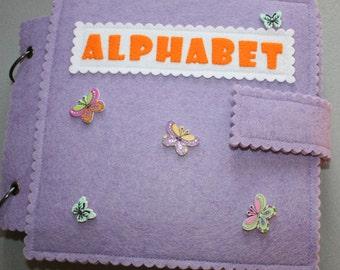 alphabet-Developing felt English alphabet book