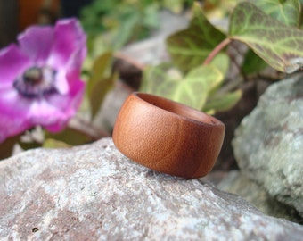Plum Wood Ring (6 1/2) Hypoallergenic/Handmade Ring/Activate Flow/Wooden Ring/Ring/Band Ring/Wood Jewelry/Plum Tree/Tree Energy/FromHerTrees