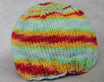 Infant knit wool hat