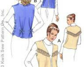 Kwik Sew 3218 No Sew Ladies Vest XS-XL New in Envelope