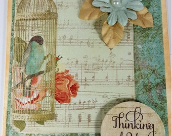 Thinking of You Card - Vintage Style Thinking of You