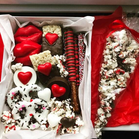 Valentine's Chocolate Covered Treat Box - Deluxe
