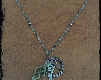 Clock Hand Necklace