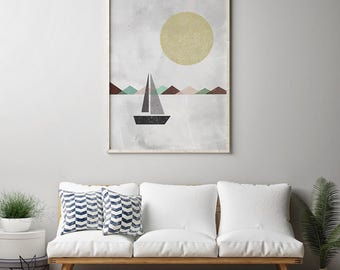 geometric print etsy. Black Bedroom Furniture Sets. Home Design Ideas