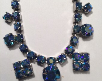 Blue Aurora Borealis necklace