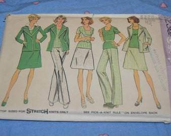 Simplicity 6235 Misses Unlined Jacket, Top, Skirt and Pants  Sewing Pattern  UNCUT Size 10 Bust 32 1/2 Waist 25""