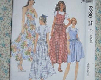 McCalls 8230 Misses Sundress or Jumper in Two Lengths Sewing Pattern - UNCUT - Size  8 10 12