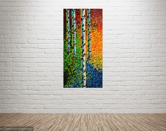 """PAINTING on CANVAS   Artwork   Paintings On Canvas   Artwork Canvas   Acrylic On Canvas   Artwork On Canvas """"Autumn Shades"""""""