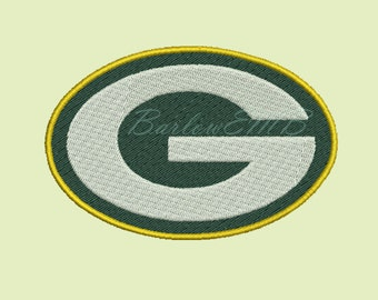 8 Size Green Bay Football Logo Embroidery Designs Instant Download 8 Formats machine embroidery pattern