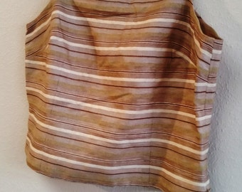 Ann Taylor 100% Silk Camisole with Beaded Trim - 8 Petite