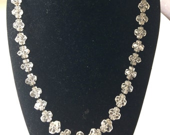 Antique cut crystal necklace
