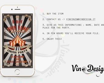 Whatsapp Invitation | Theme: Circus Party, Carnival Party