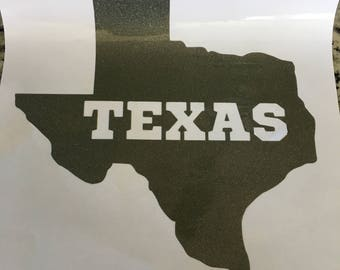 Large State of Texas Decal