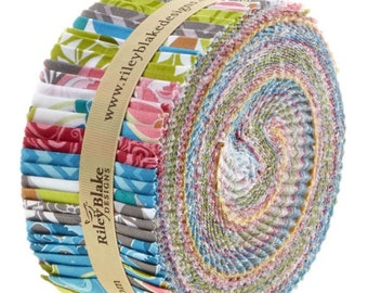SUPER DEAL Fantine Rolie Polie/Jelly Roll by Lila Tueller for Riley Blake - 40, 2.5 inches of Precut Fabric Strips
