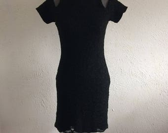 80's Lace cut out dress