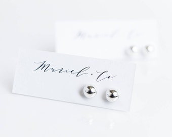 Large Sterling Silver Ball Earrings