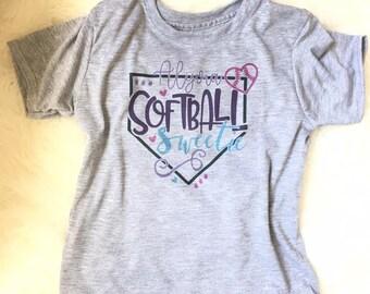 SOFTBALL Sweetie // personalized softball tee