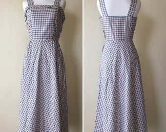 1940s Red White and Blue Cotton Sundress