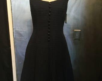1960s drop waist nautical dress/sailor dress/fourth of July dress/-M