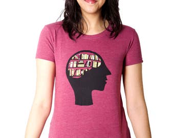 100% recycled t-shirt - Brain Library