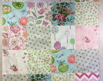 Patchwork for children - flowers, birds and elves