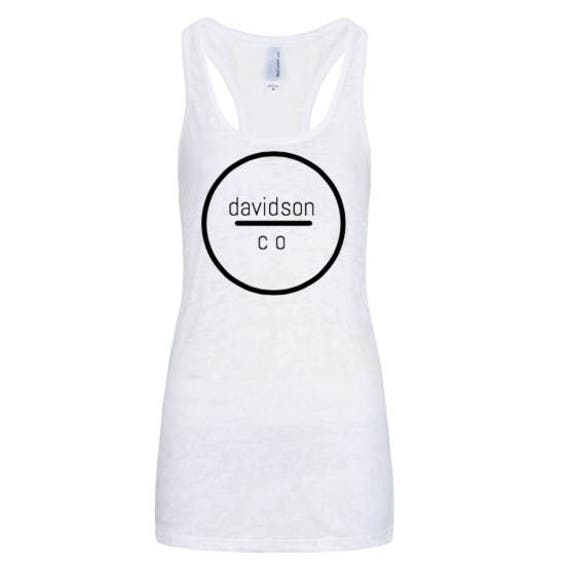 the capitol company 'County' racerback tank//Nashville Southern Activewear- White